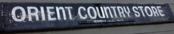 Orient country store sign