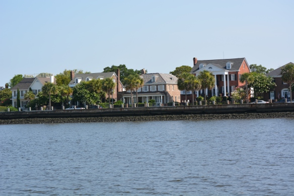 Lovely homes line the Charleston Battery