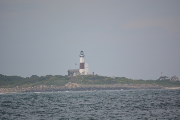Happy to see the  familiar Montauk lighthouse signaling us home.
