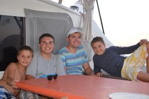 Thomas, Sam, Max & Franklin; Orient, NY July 2015