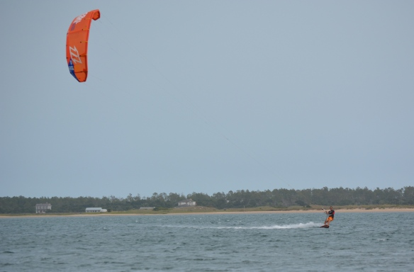 Pete kiting Cape Lookout