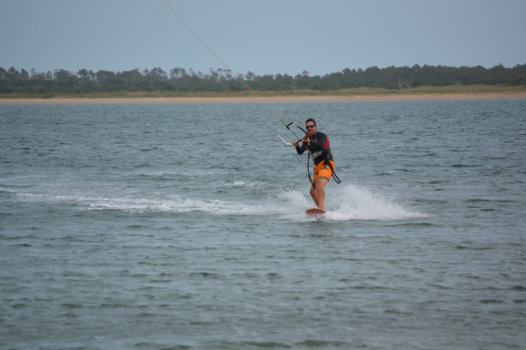 Pete kiting Cape Lookout cu