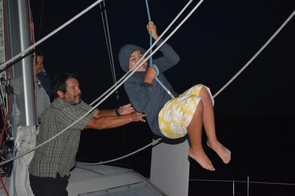 Halyard swing