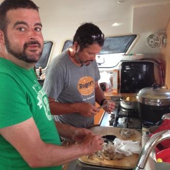 Shrimp boil prep