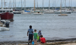 Kids in Vineyard Haven