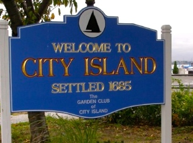 City Island sign