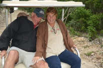 Rob & Rose try to hang on as Capt. Pete navigates the means streets of Hopetown