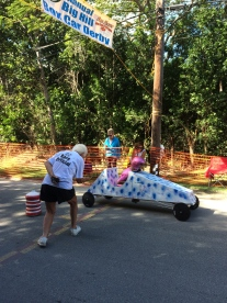 Box Cart Derby finish line