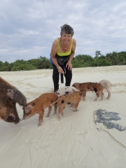 Charlotte and some wee piglets