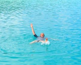 Eileen takes a dip...