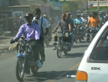 Motorcycles are main mode of transport