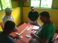 They take their dominos seriously in the Caribbean