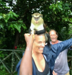 Yep that is a monkey on Mary's head