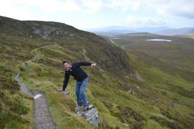 Knockan Crag was windy, cold and desolate