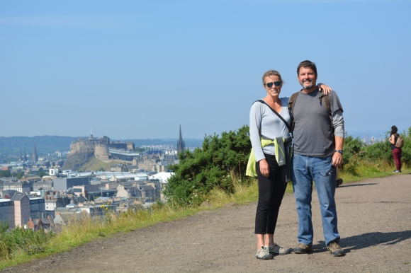 Arthur's Seat's with great view over Edinburgh