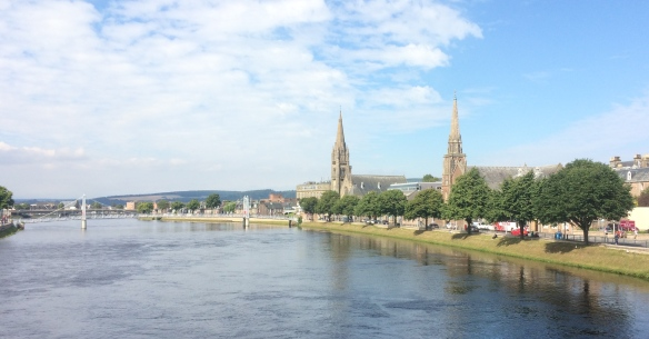 Gorgeous view of the River Ness from the apartment in Inverness