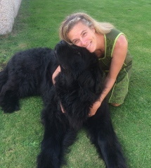 Murphy the Newfoundland. There is a lot of love under all that fur.