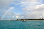 We've seen more rainbows recently, this one framing s/v Corpse Pounder (long story on their name)