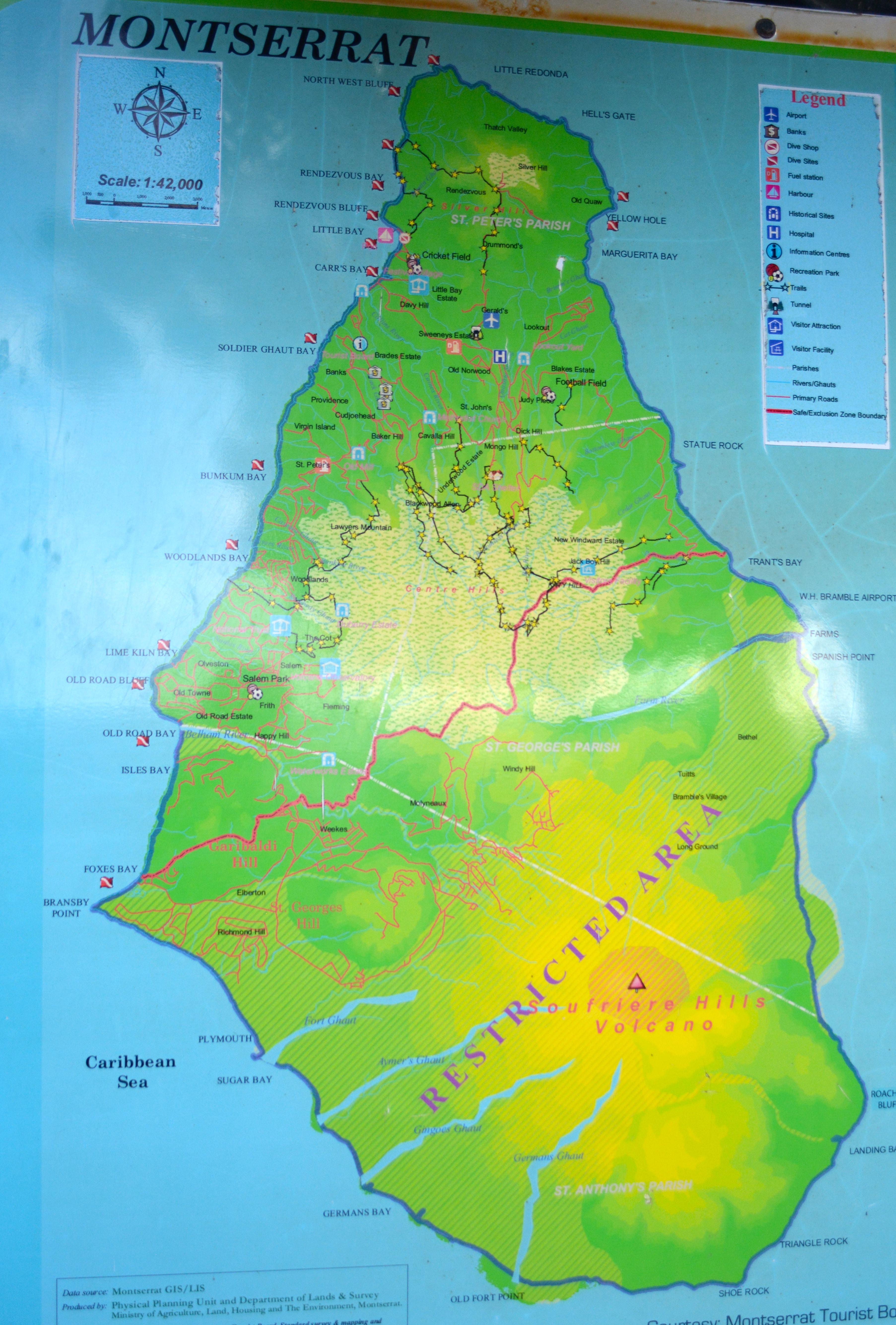 Montserrat Map Sailing On Neko - Montserrat map