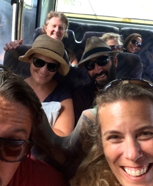 Bus trip complete with hysterical photo bomb by local