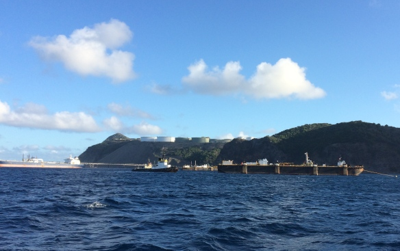 oil barges Statia