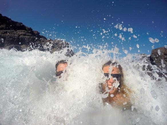Wave selfie