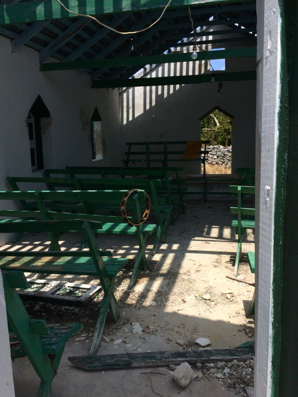 Church destroyed by hurricane