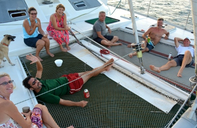 Lido deck happy hour in the San Blas