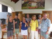 Grendada rum tasting with Roger and Susan