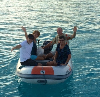 James & Charlotte, Rob and Rose in the Bahamas